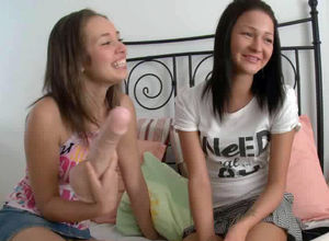 Lesbo porn, a handful of comely teen..