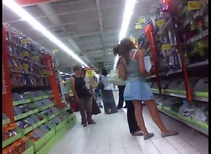 Grocery vend listen in camera upskirt
