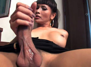 Thai ladyboy ID in the air four fingers