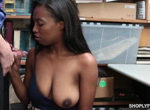 Ultra-cute ebony gf another shoplifter