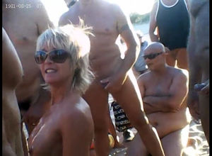 Public gang-fuck on beach in cap d'agde
