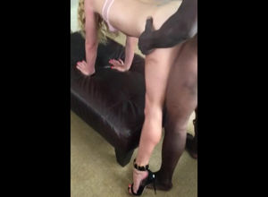 Long legged slutwife in high stilettos..