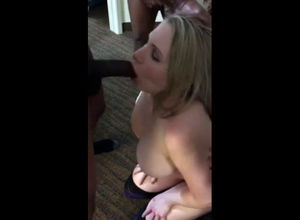 Giant boobs wifey throat torn up by..