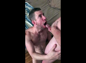 queer ample facial jizz shot