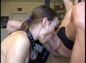 Sloppy blowjob perfectly done by kinky..